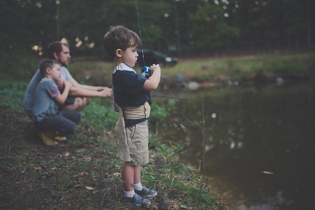 rybaření s tátou