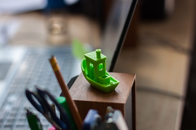 Vytisknutá 3D lodička